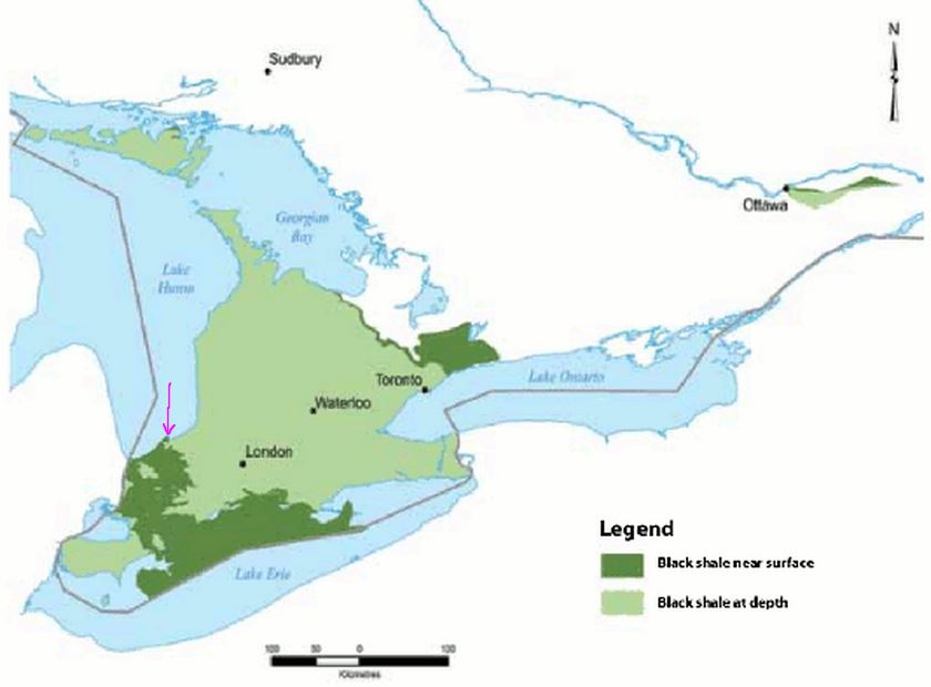 This image has an empty alt attribute; its file name is 2011-Ontario-Kettle-Point-Shallow-black-shales-pink-shows-approx-location-Indian-Hills-Geysers.jpg