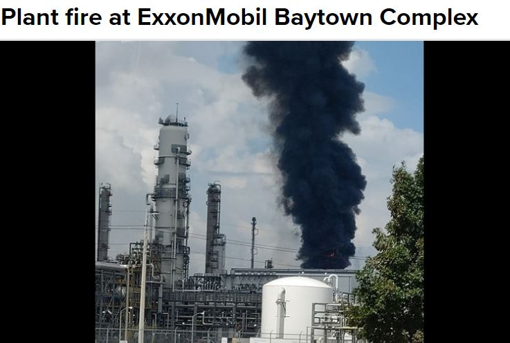 Baytown Texas Exxon plant explosion & fire: Shelter-in-place