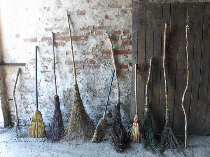 This image has an empty alt attribute; its file name is brooms.jpg