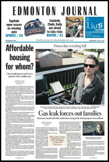 2010-edm-journal-front-page-on-calmar-alberta-leaking-wells-by-imperial-forces-out-families