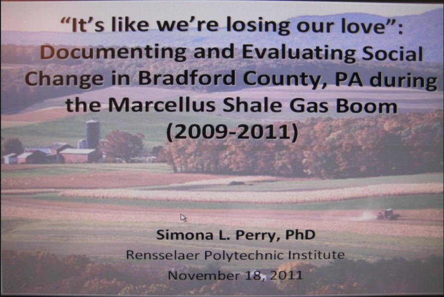 2011 11 18 ItsLikeWe'reLosingOurLove by Dr. Simona Perry on the devastating environmental, social, community, health impacts caused by fracking
