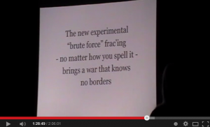 2012 02 24 Jessica Ernst presents in County Lietrim, Republic of Ireland, 'Fracing brings a war that knows no borders'
