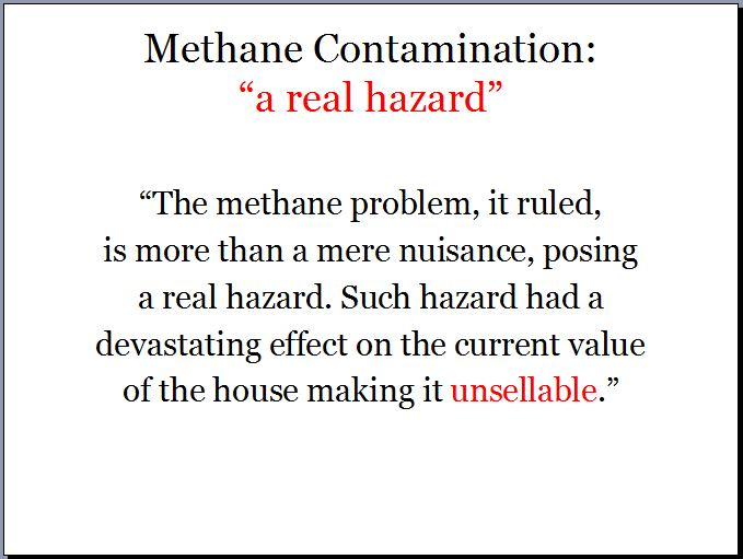 2012 03 02 Ontario Assement Review Board methane contamination real hazard