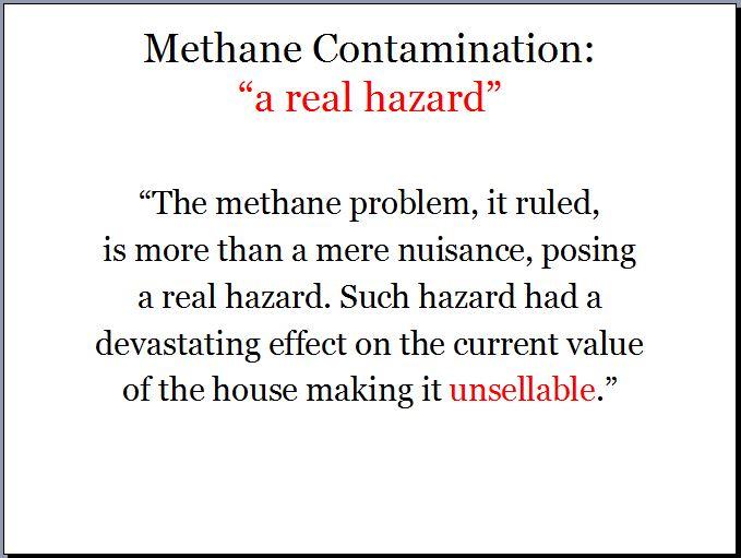 2012 03 02 Ontario Assement Review Board methane contamination real hazard
