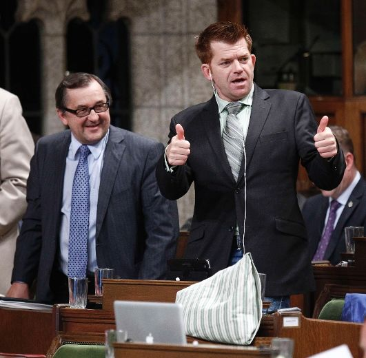 2012 12 06 Harper government MP Brian Jean, now Alta Wildrose Big Oil Party Chief, betraying Canada's waterways