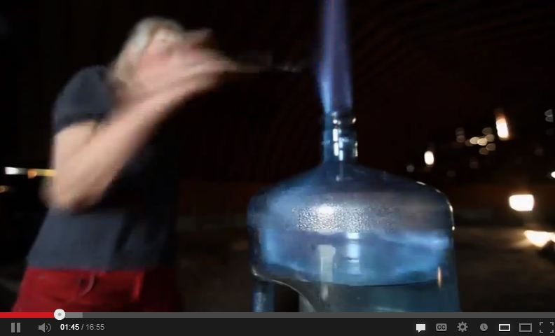2011 Untested Science Screen Grab Ernst Flaming Water
