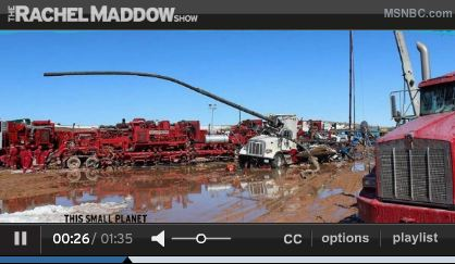 2013 03 29 Rachel Maddow Show Frac Stack Blows and Launches into Frac Truck
