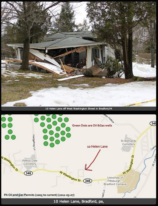 Bainbridge Ohio Home Explosion from industry gas leaking into groundwater
