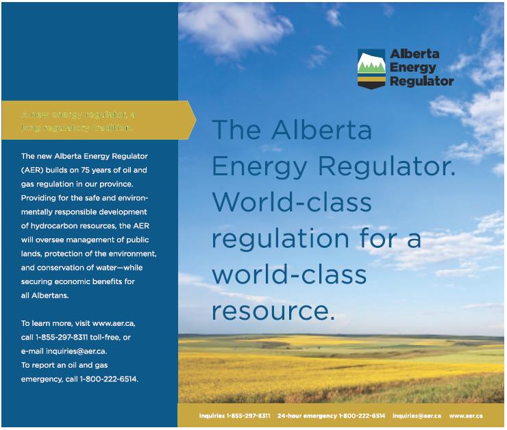 2013 06 25 Alberta Energy Regulator ad in Rockyview Weekly