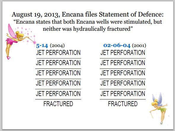 2013 09 22 Encana files statement of defence, they didnt frac the gas wells Encana data says they frac'd