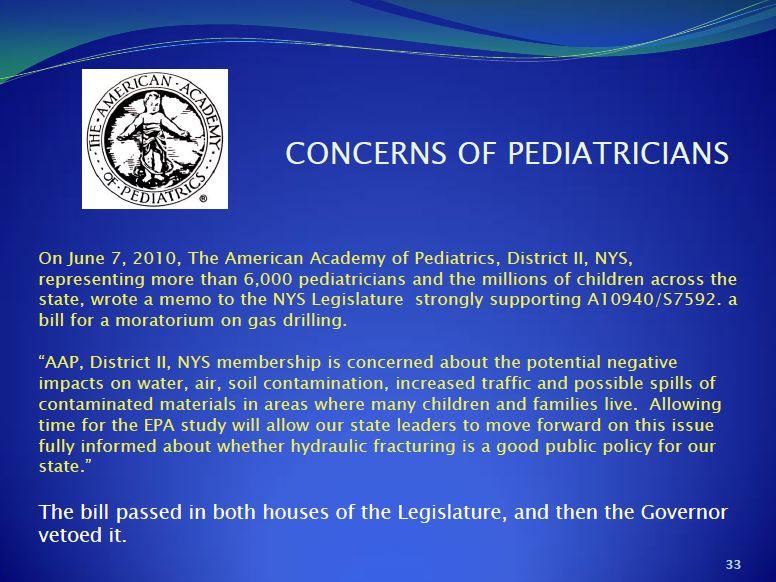 2013 09 Dr. Larysa Dyrszka presentation in Ukraine 6000 US Pediatricians demand moratorium on gas drilling