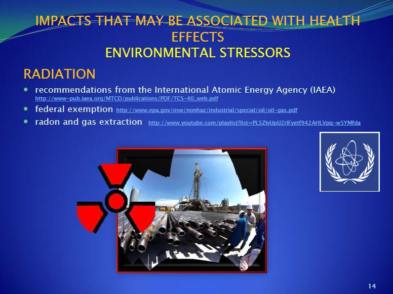 2013 09 Dr. Larysa Dyrszka presentation in Ukraine Environmental Stressors to workers Radioactive pipes