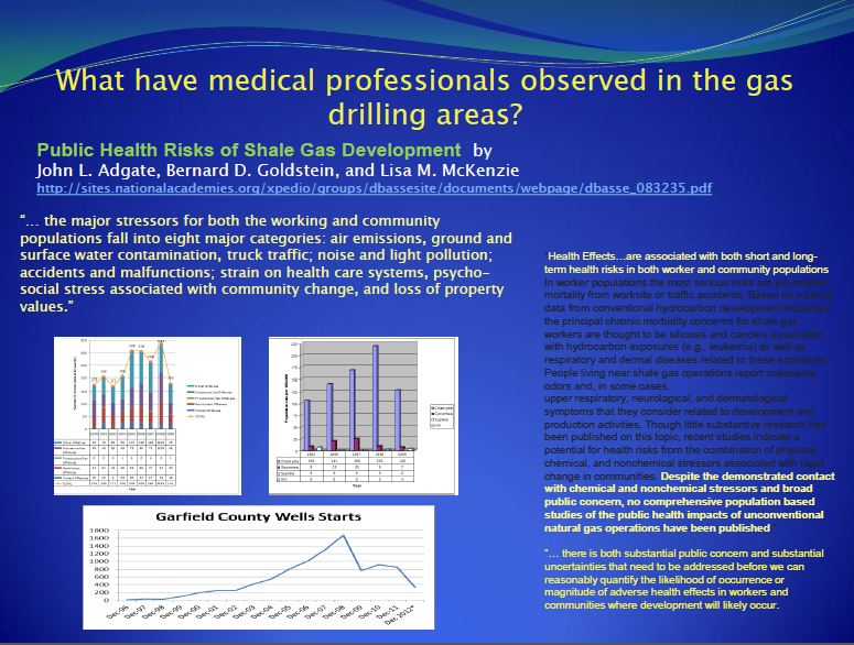 2013 09 Dr. Larysa Dyrszka presentation in Ukraine Medical professional observations in worker and communities oil and gas drilling areas