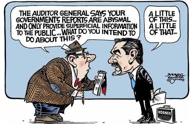 2014 07 10 Alberta Govt Abysmal, superficial information to the public cartoon