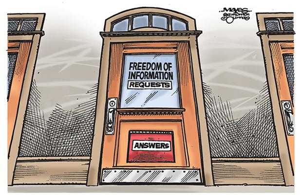2014 07 10 Alberta Govt FOIP requests and answers, door closed to information in Alberta