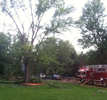 2014 07 17 Ohio Home Explosion kills 27 year old woman, critically injures boyfriend, home completely destroyed