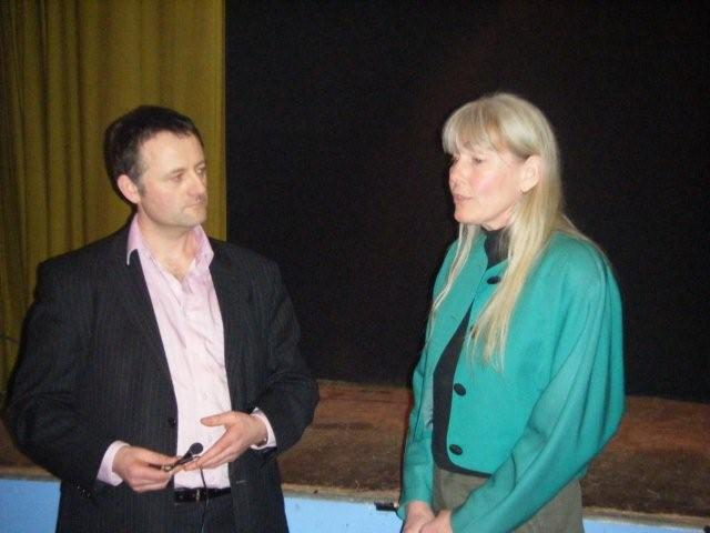 2012 02 25 Jessica interviewed before presentation at Ballroom of Romance Leitrim Co Republic Ireland