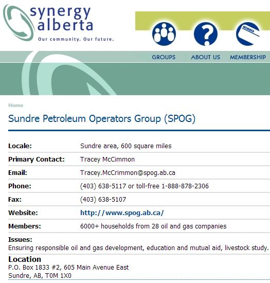 2014 01 02 Screen Capture SPOG Synergy Alberta group
