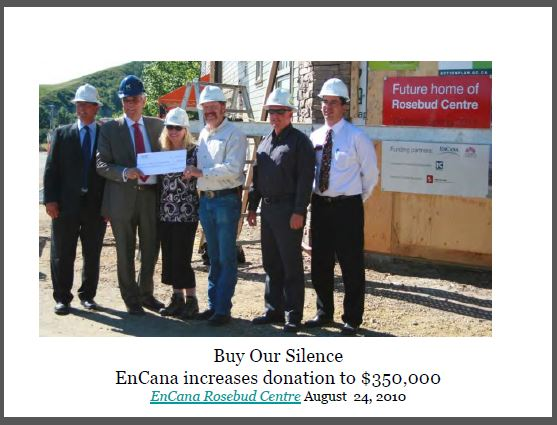 2010 08 24 Encana buying Rosebud silence