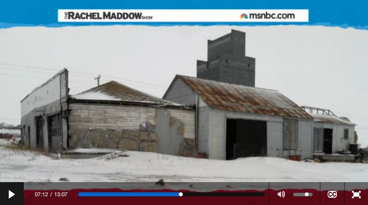 2014 03 14 Radioactive waste illegally dumped in North Dakota Rachel Maddow show abandoned gas station noonan