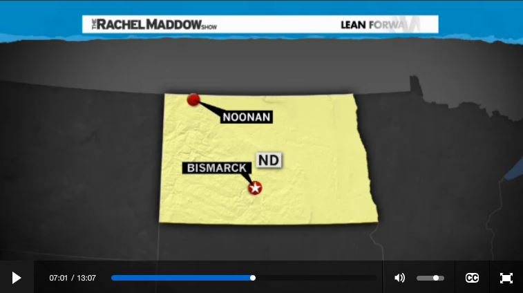 2014 03 14 Radioactive waste illegally dumped in North Dakota Rachel Maddow show map noonan