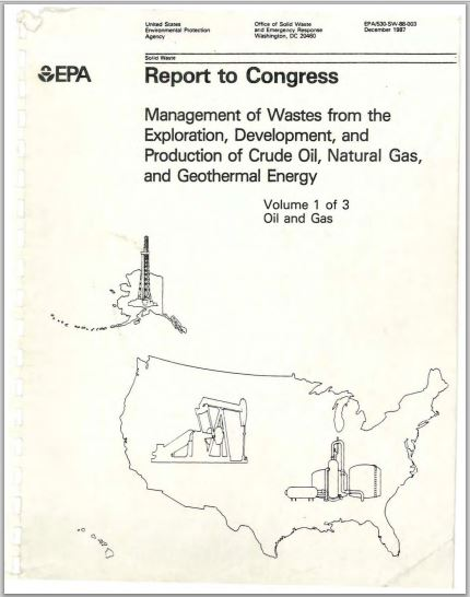 1987 EPAFrackingContaminationReport COVER