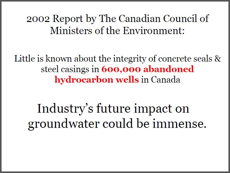 2002 CCME 600,000 abandoned wells industry's future impact could be immense