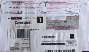 2005 12 back XPRESSPOST stamped refused by addressee contains (EUB) Ernst letter to EUB asking clarication re banishment