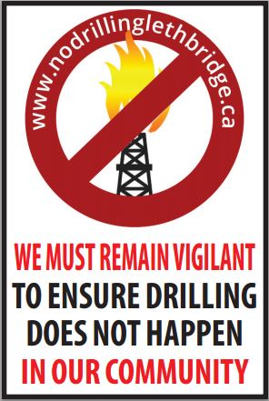 2014 05 02 No Drilling Lethbridge We Must Remain Vigilant