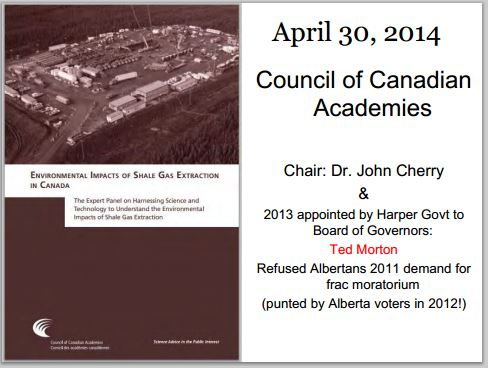 2014 05 24 Ernst Presentation at Courtenay CCA report John Cherry Ted Morton