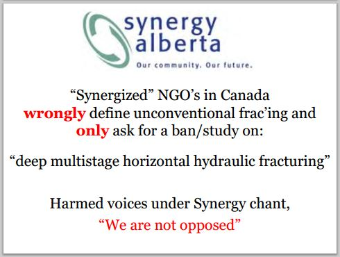 2014 05 24 snap Countenay presentation by Ernst synergy alberta NGOs wrongly defining fracing as only deep horizontal multi-stage