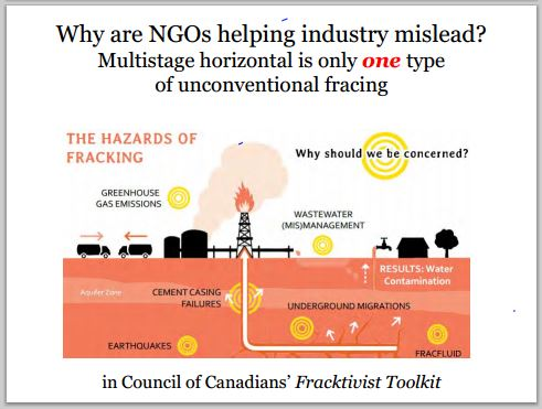 2014 05 24 snap Countenay presentation by Ernst why are NGOs helping industry mislead the public on fracing