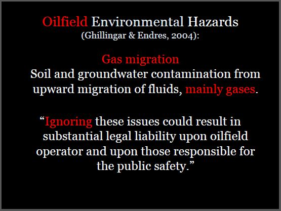 2004 Ghillingar and Endres Oilfield Environmental Hazards Gas migration