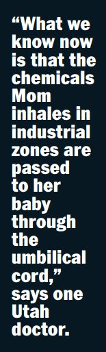2015 06 Rolling Stone, What's killing the babies of Vernal, Utah, what we know, the chemicals pass through to the baby
