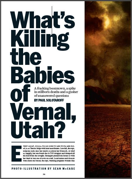 2015 07 02 Rolling Stone, What's killing the babies of Vernal, Utah