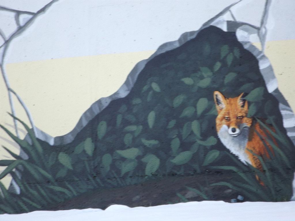 2015 Chevron funded Fox Creek water tower mural, fox quake