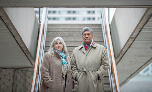 TORONTO, : Dec. 4, 2015 - Raj Anand and Cheryl Milne are seen here at Nathan Phillips Square in Toronto, Ontario Friday Dec. 4, 2015. (Tim Fraser for The Lawyers Weekly) (For The Lawyers Weekly story by n/a)