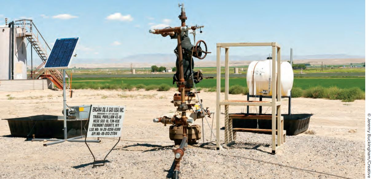 2016 06 16 coming clean report, photo typical gas well in pavillion, encana oil & gas