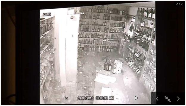 2016 09 03 5.6M Earthquake, Pawnee asssessing damages liquor store, Oklahoma News9