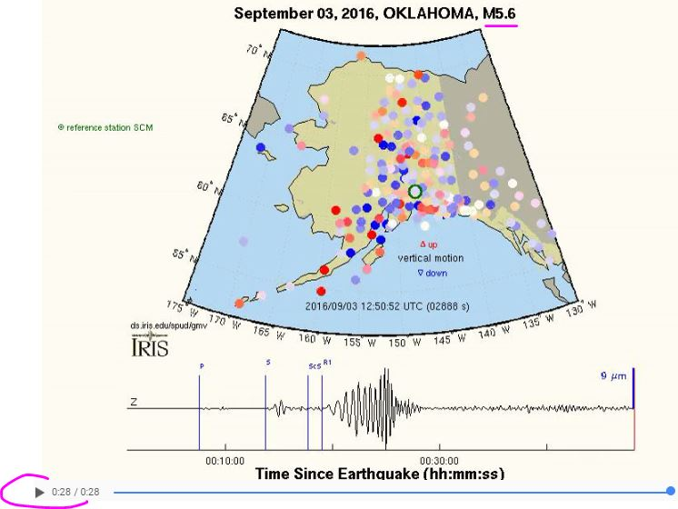 2016 09 03 Oklahoma 5.6M earthquake vertical-component Alaska GMV