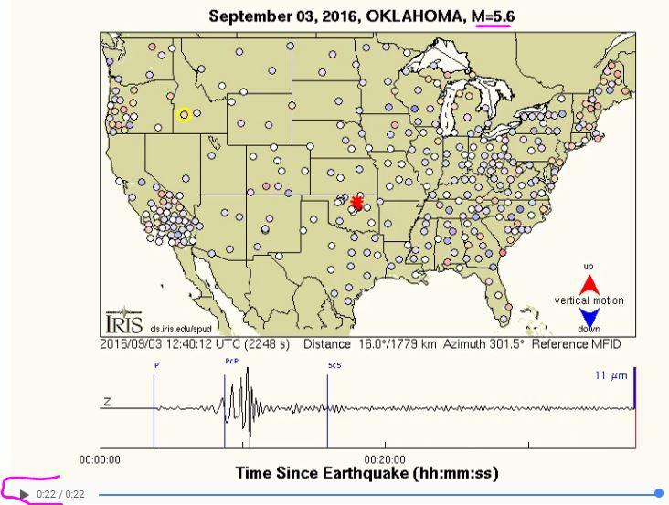 2016 09 03 Oklahoma 5.6M earthquake vertical-component GMV
