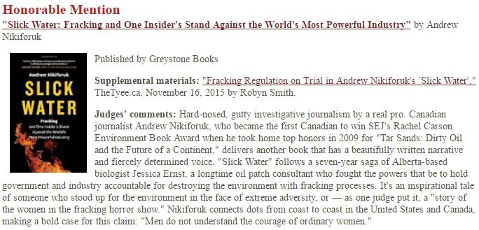 2016-09-13-snap-andrew-nikiforuks-slick-water-wins-honourable-mention-for-rachel-carson-environmental-book-award