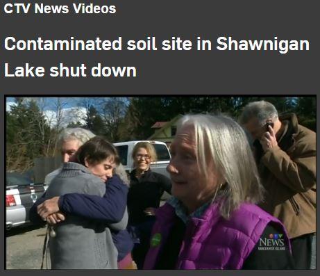 2017 02 23 Shawnigan Lake Toxic Dump shut down by BC Minister Environment