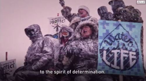 2017 03 15 snap from video by ACLU w Roger Baldwin, one of founders ACLU, 'spirit of determination'