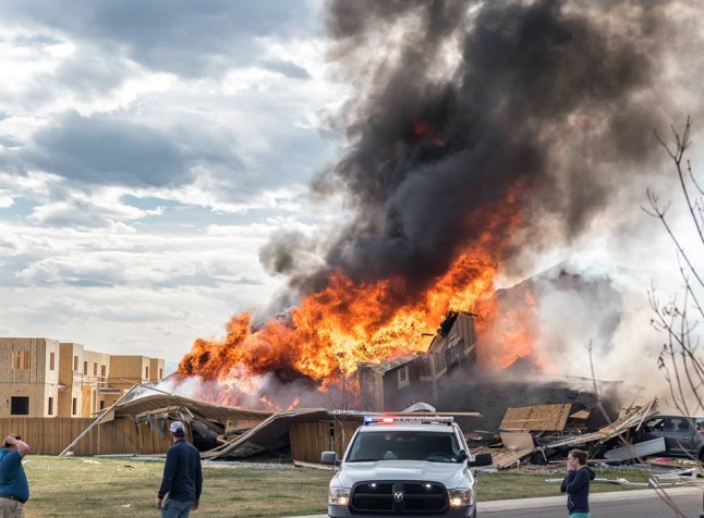 2017 04 18 Firestone fatal home explosion, 170 feet from Anadarko energy well, firefighters