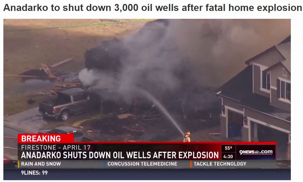 2017 04 26 Anadarko shuts down oil wells after home explosion killed two, hospitalized two more, including high school science teacher 1a