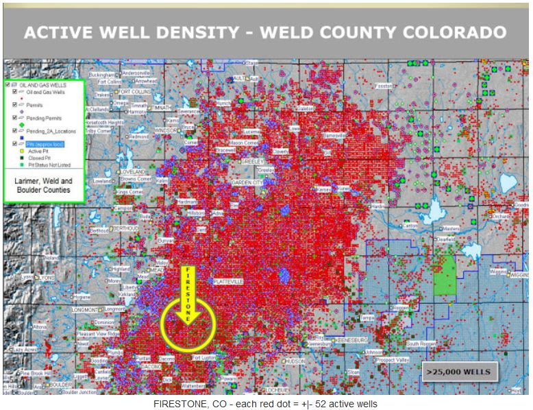 2017 05 02 snap map firestone colorado, where anadarko's migrating methane caused home explosion, killed 2, injured 2, by fractivist