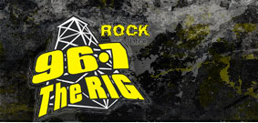 96.7 Rock, The Rig logo