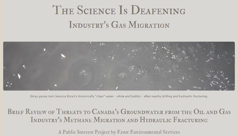 The Science is Deafening, Industry's gas migration